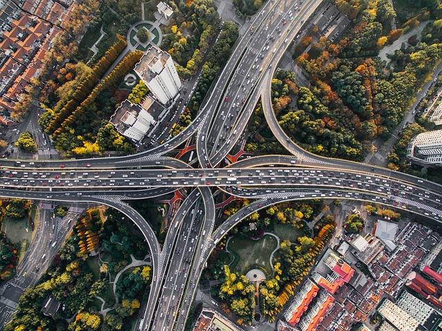 propletené silnice