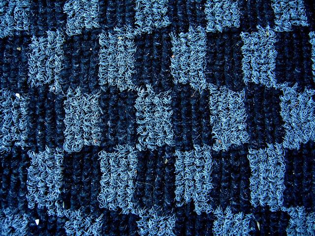 vlákna modrého koberce